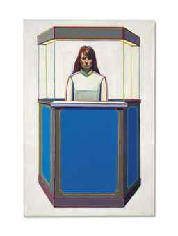 Wayne Thiebaud-Booth Girl-1964