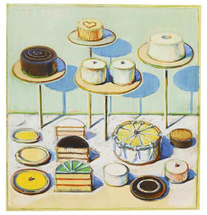 Wayne Thiebaud-Cakes No. 1-1967