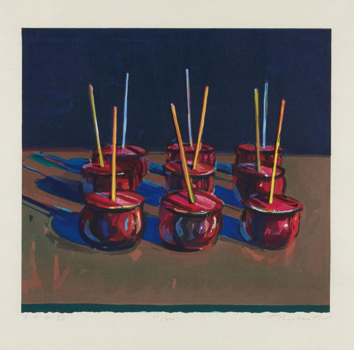 Wayne Thiebaud-Candy Apples-1987