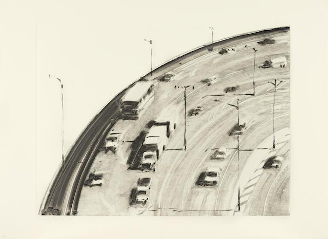 Wayne Thiebaud-Freeway Curve 2-1977