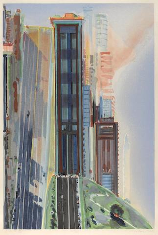 Wayne Thiebaud-Hill Street-1987