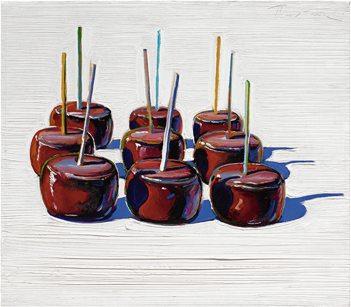 Wayne Thiebaud - Nine Candy Apples