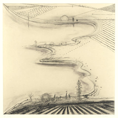 Wayne Thiebaud-River Edge (Sacramento Delta)-1997