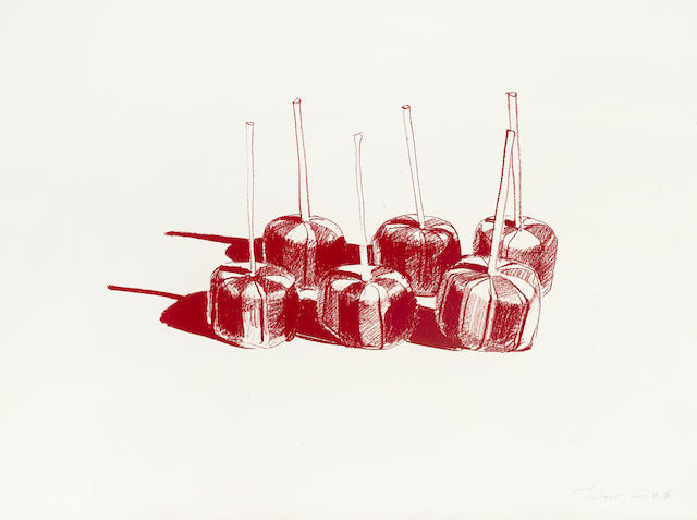 Wayne Thiebaud-Suckers, State II-1967