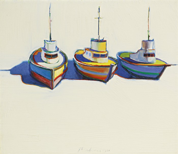 Wayne Thiebaud-Three Boats-1966