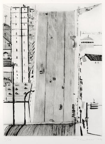 Wayne Thiebaud-Wide Downstreet-1985