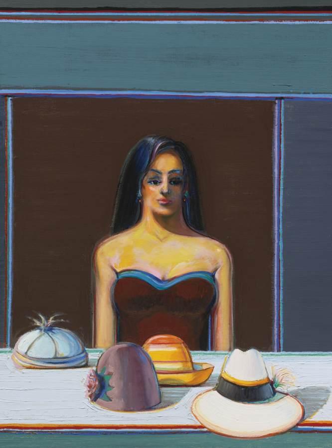 Wayne Thiebaud-Woman With Four Hats-2014