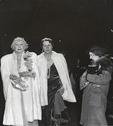 Weegee-The Critic (Mrs. Leonora Warner and Her Mother, Mrs. George Washington Cavanaugh, Attending Opening Night at the Metropolitan Opera)-1943