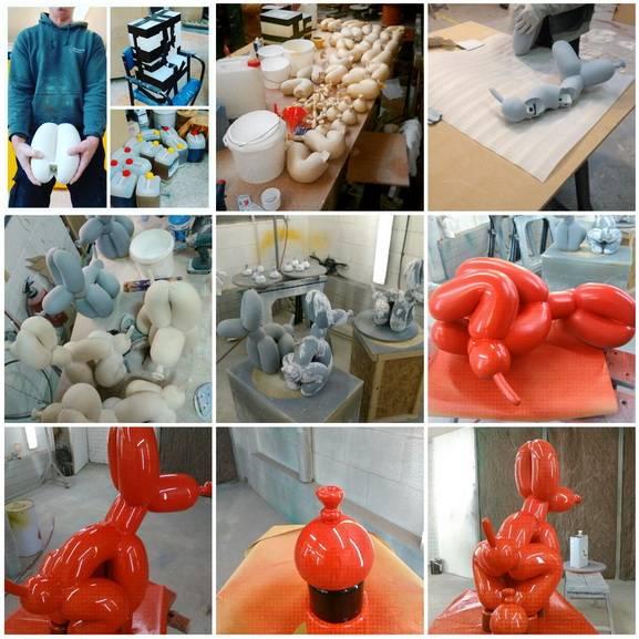 Whatshisname - Making of Ballon Dog Collage