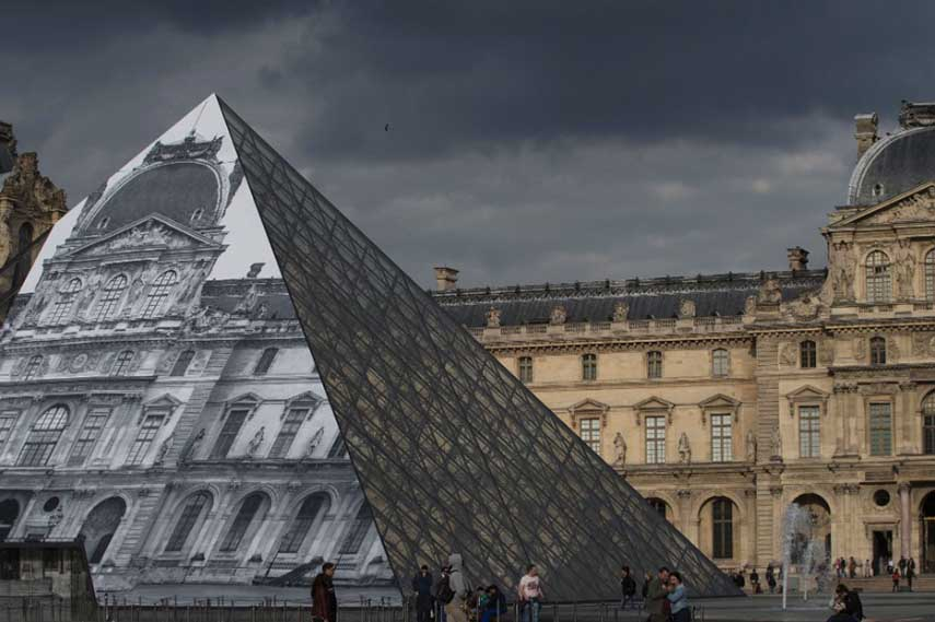 JR Louvre public  installation  video louvre  2016  french photos  search