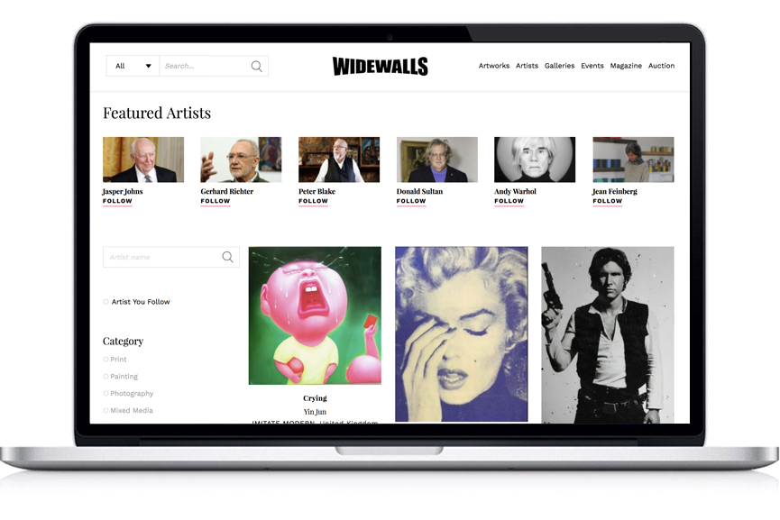 Widewalls MARKETPLACE - find the best print on our home page