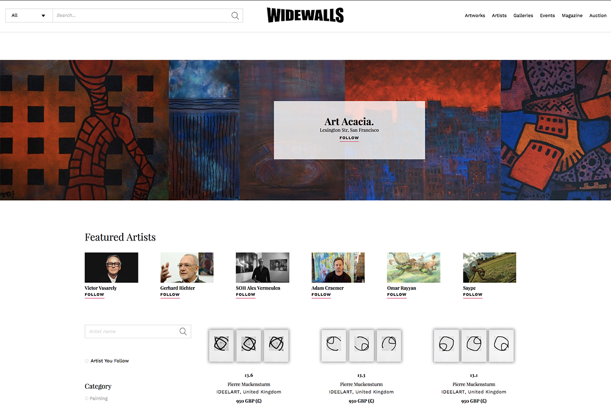 Widewalls marketplace the best place to buy art online for Best place to buy paintings online