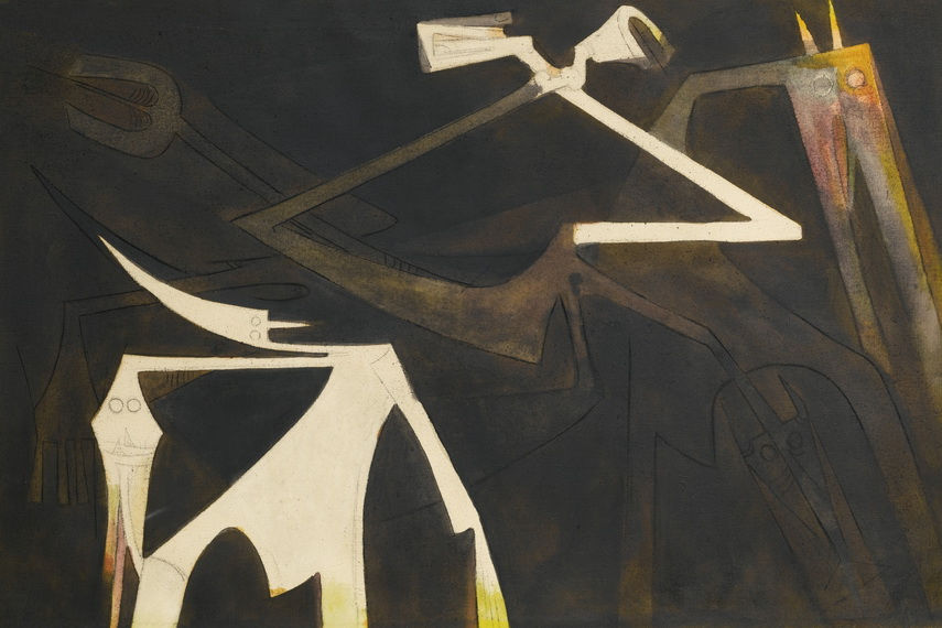 Wifredo Lam - New Goodness, ND, image via sothebys.com