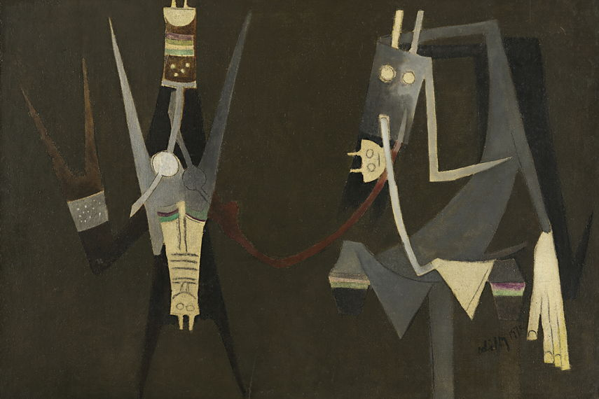 Wifredo Lam - People, 1970, image via theredlist