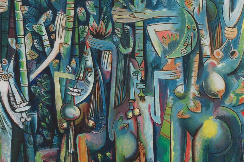 Wifredo Lam - The Jungle, 1943, image via nashvillearts.com