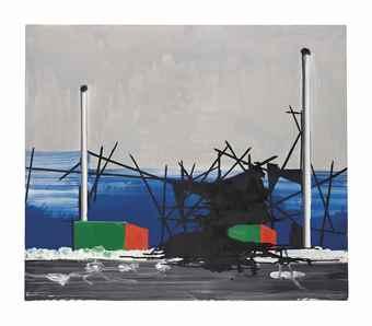 Wilhelm Sasnal-Untitled (Crane)-2005