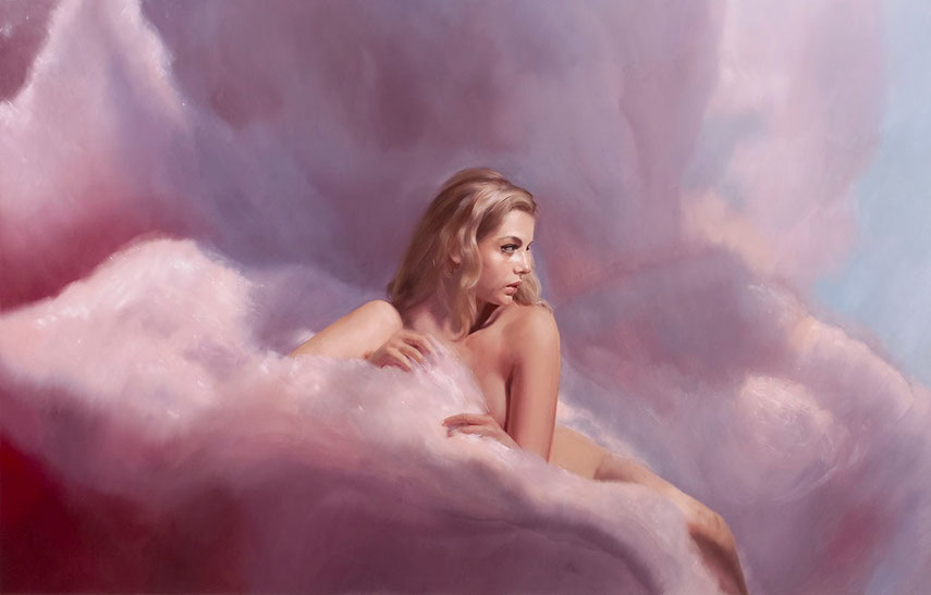 Will Cotton - Candy Clouds Hannah,2008 - Oil linen and inches prints are in Mary Boone gallery from 2014.