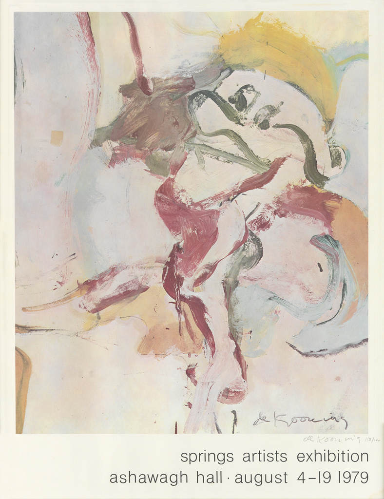 Willem de Kooning-Springs Artists Exhibition / Ashawagh Hall-1979