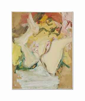 Willem de Kooning-Woman on a Sign IV-1967