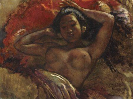 Willem Gerard Hofker-Ni Gusti Compiang Mawar Reclining-1943