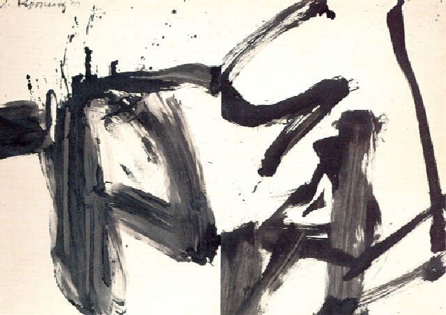 Willem de Kooning-Black and White Rome R-1959