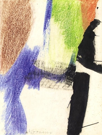 Willem de Kooning-Crayon and Collage (East Hampton)-1960