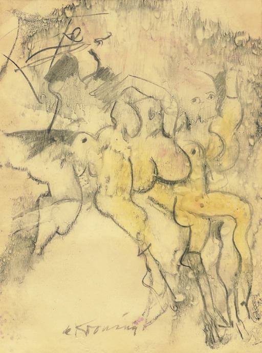 Willem de Kooning-Fallen Angels-1965