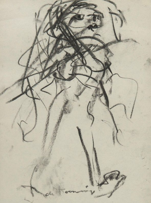 Willem de Kooning-Femme Marchant-1980