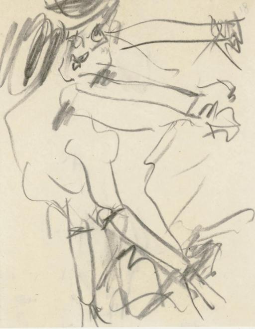 Willem de Kooning-Figure Study-1965