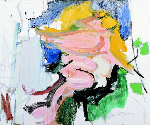 Willem de Kooning-Figure in Landscape-1966