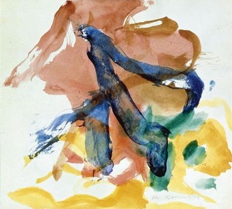 Willem de Kooning-Figure in Landscape-1970