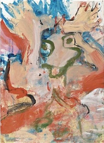 Willem de Kooning-Figure in a Landscape-1977