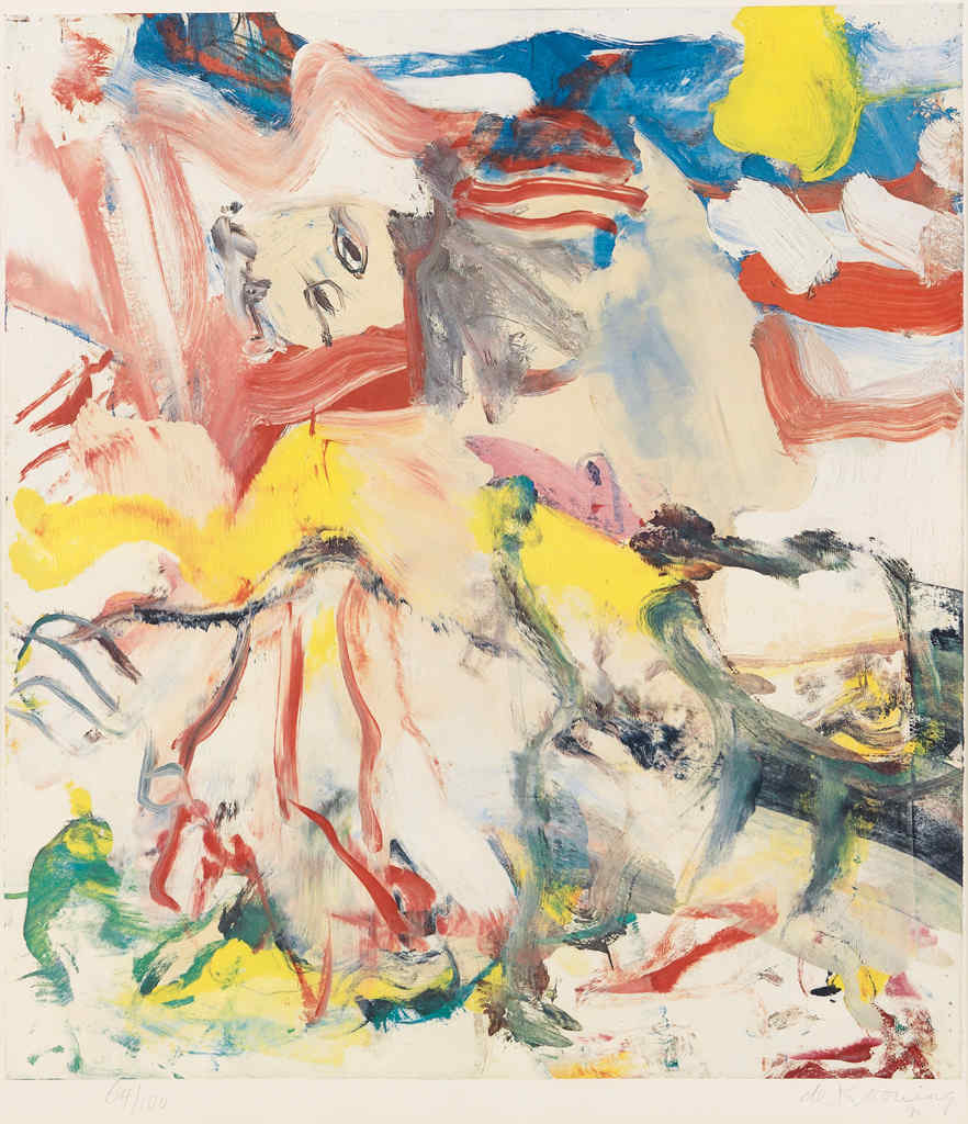 Willem de Kooning-Figures in a Landscape No.6-1980
