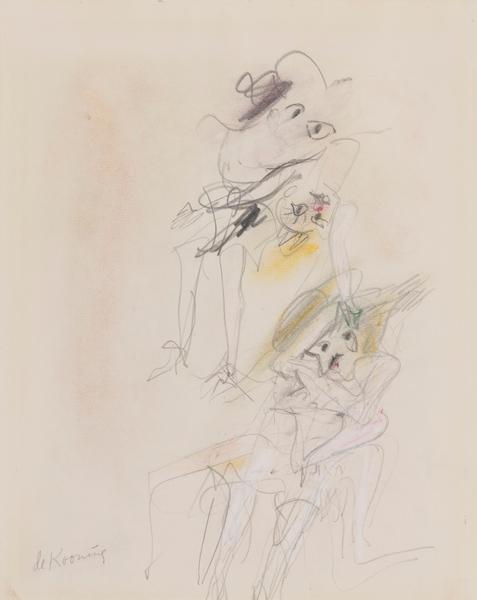 Willem de Kooning-Floating Females-1966