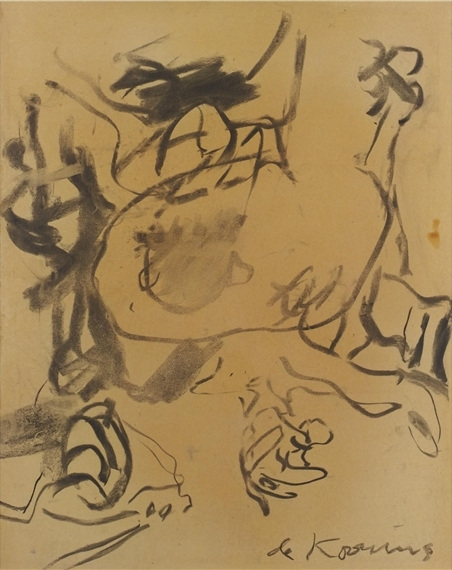Willem de Kooning-George Spaventa, Franky the Waiter and an Unidentified Man at Cedar Bar-