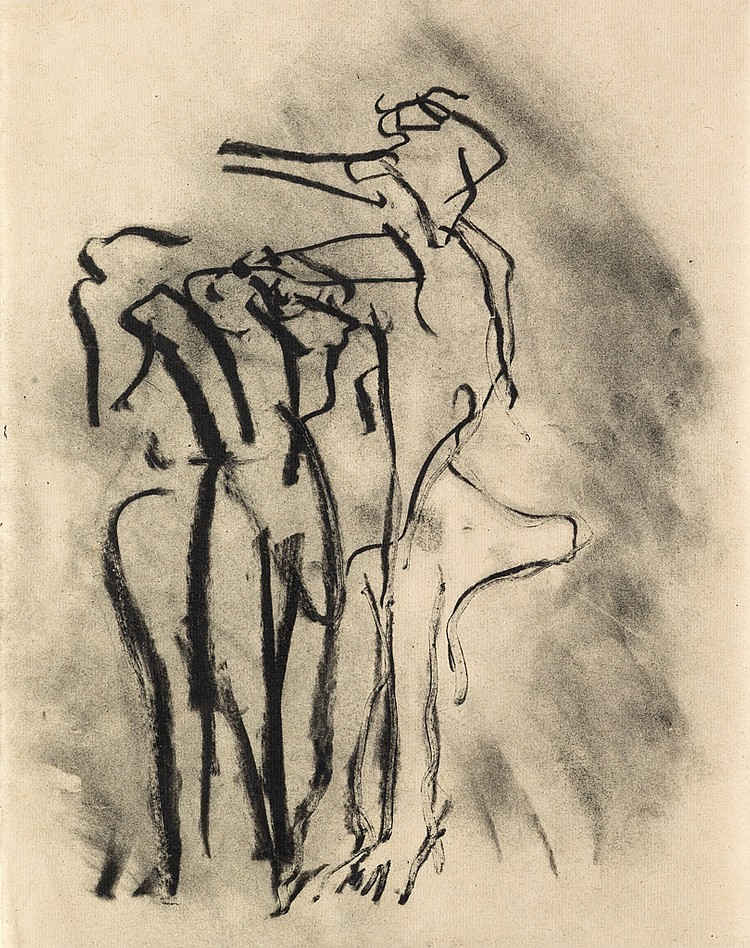 Willem de Kooning-Group of 7 Lithographs from Poems by Frank O'Hara-1988