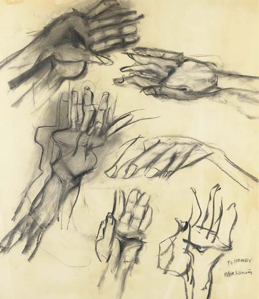 Willem de Kooning-Hand Study-1975