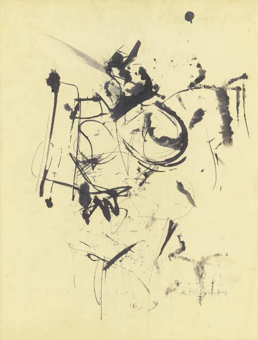 Willem de Kooning-Ink Drawing No.3-1954