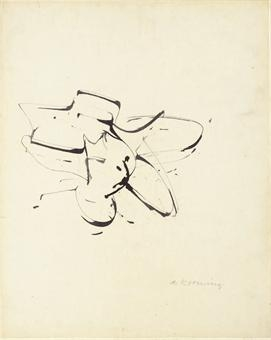 Willem de Kooning-Ink Drawing No.4-1954