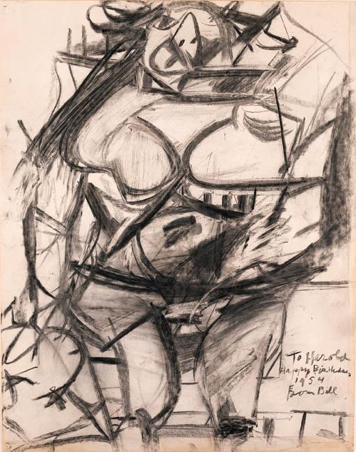 Willem de Kooning-Monumental Woman-1953