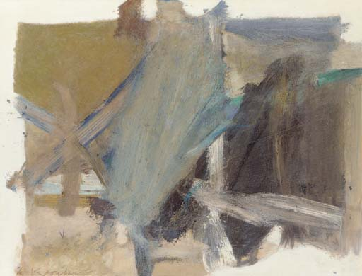 Willem de Kooning-Oil Painting on Paper VI-1958