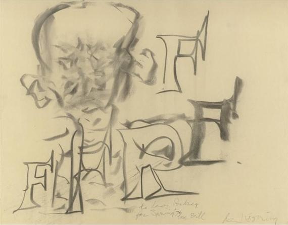 Willem de Kooning-Portrait of a Man-1971