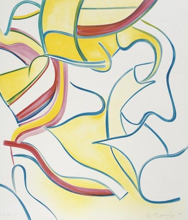 Willem de Kooning-Quatre Lithographies: One Plate-1986
