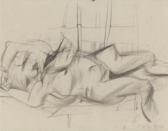 Willem de Kooning-Reclining Woman-1951