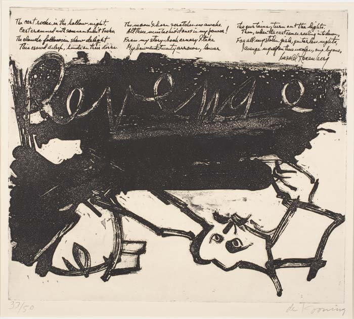 Willem de Kooning-Revenge (From 21 Etchings and Poems)-1960