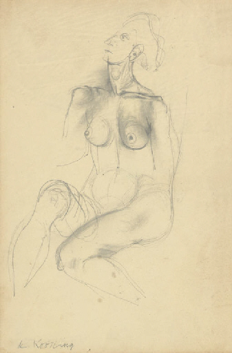 Willem de Kooning-Seated Woman-1942