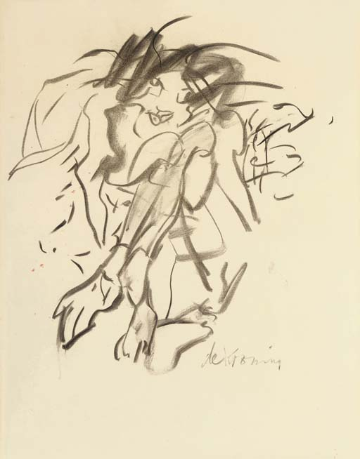 Willem de Kooning-Seated Woman on the Beach-1967
