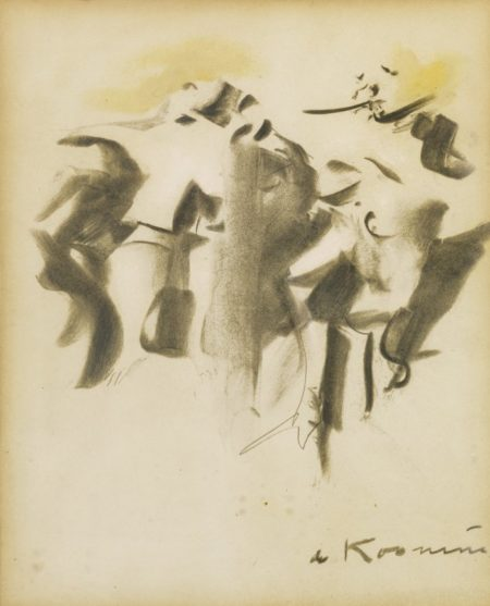 Willem de Kooning-Study For Clam Diggers-1965