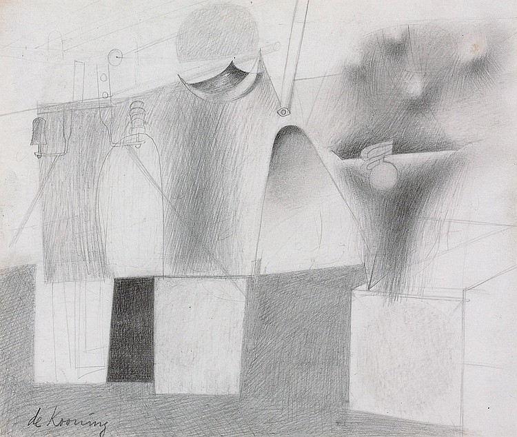 Willem de Kooning-Study for Mural in Hall of Pharmacy, World's Fair-1939