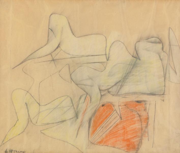 Willem de Kooning-Study for Pink Angels-1945